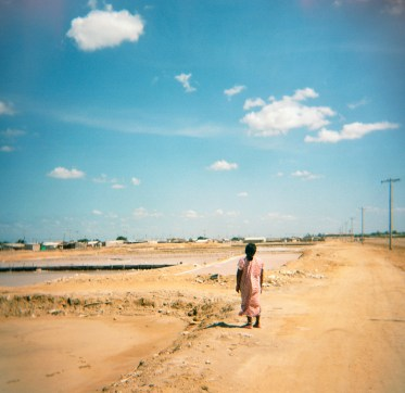 A woman at the salt mines in Manaure.
