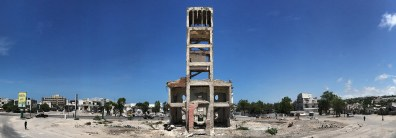Mogadishu, SOMALIA 22.05.2014 The remains of the old government building in the heart of Mogadishu, Somalia. Rick Findler / Story Picture Agency