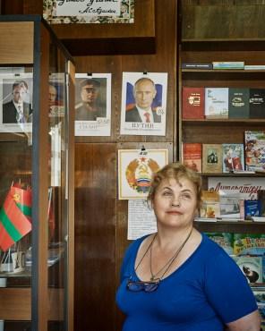 Natalia Yefremova - Seller of Transnistrian patriotic items in Tiraspol