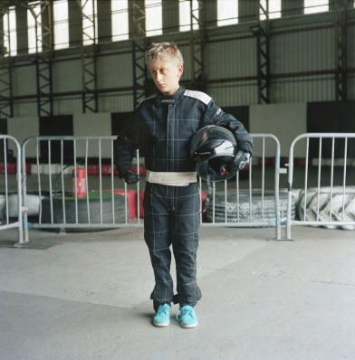 Andrei Zharnasek poses for a portrait at the West Wales Karting Center. The children will spend up to a month with host families around the Pembrokeshire area of the U.K. An astonishing 85 per cent of Belarusian children are deemed to be Chernobyl victims: they carry Ògenetic markersÓ that could affect their health at any time and can be passed on to the next generation. A vicious cycle that unfortunately could continue for hundreds if not thousands of years. From the series 'The Healing Land'