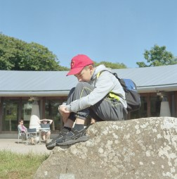 Artur Dubanevick sits on a rock at the St Davids visitor center. The children often suffer from a weak immune system and are prone to illness and infection. The children will spend up to a month with host families around the Pembrokeshire area of the U.K. An astonishing 85 per cent of Belarusian children are deemed to be Chernobyl victims: they carry Ògenetic markersÓ that could affect their health at any time and can be passed on to the next generation. A vicious cycle that unfortunately could continue for hundreds if not thousands of years. From the series 'The Healing Land'