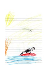 An unkown child draws a picture depicting their experiences of the sea and beach for the first time. The children live in landlocked Belarus and have never experienced the ocean before. The children will spend up to a month with host families around the Pembrokeshire area of the U.K. An astonishing 85 per cent of Belarusian children are deemed to be Chernobyl victims: they carry Ògenetic markersÓ that could affect their health at any time and can be passed on to the next generation. A vicious cycle that unfortunately could continue for hundreds if not thousands of years. From the series 'The Healing Land'