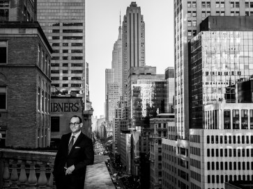 Marc Metrick at the 8th floor terrace of Saks 5th Avenue store located at 611 5th Ave in New York city. Sasha Maslov for the New York Times.