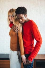 Justine. Top and Pants. Oak & Fort Tatenda. Sweater H&M, Pants Topshop