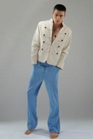 Jacket VV Kidz, trousers vintage A.N.G.E.L.O., necklaces Archivio Guerrini