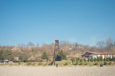 Tuzla, Bosnia-Erzegovina. Pannonian lake. Opened in 2003 it can be considered a beach where Bosnians spend their Sundays. In 1914, right in this area, it was recorded the phenomenon of subsidence for the first time.