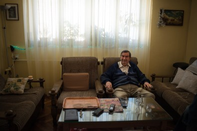 Tuzla, Bosnia-Erzegovina. A retired in his own home. In Tuzla only the elderly seem to remember the extent of damage caused by salt extraction.