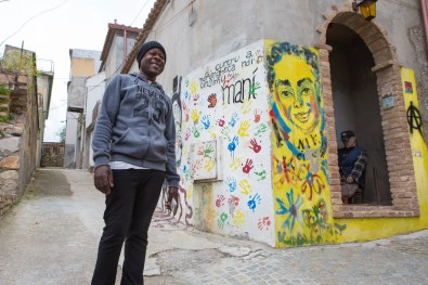 Jalil is from Nigeria, he's 37 and lives happily in Riace from 1 year and 7 months.
