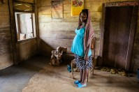 Anita is 15 years old. She is one among the thousands of teenage mothers in Cameroon. Bakumba, Cameroon. 2014