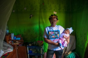 Foebe is 16 years old. She is one among the thousands of teenage mothers in Cameroon