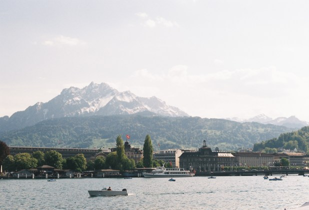 View of Lucerne from the lakeside