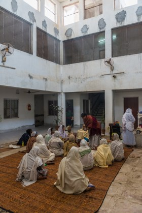 In local ashrams they find shelter, community and are provided with at least one warm meal a day.