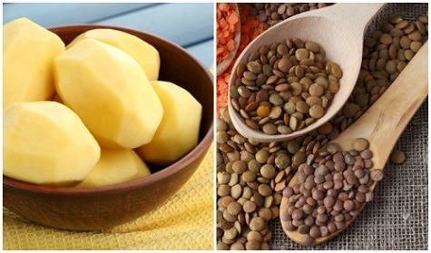 Lentil and Potatoes