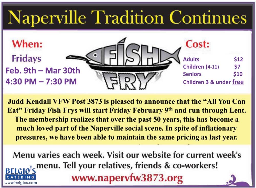 February briefs positively naperville for Friday night fish fry near me