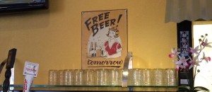 Photo By Positively Petaluma: Pongo's Free Beer Sign