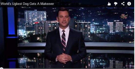 Video: #Petaluma's Ugliest Dog Gets Makeover on Jimmy Kimmel Show