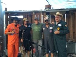 Gravel Spreaders with Editor of Petaluma Magazine: Photo By Naomi Carlson