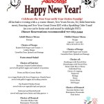 Fourchette New Years Eve Menu
