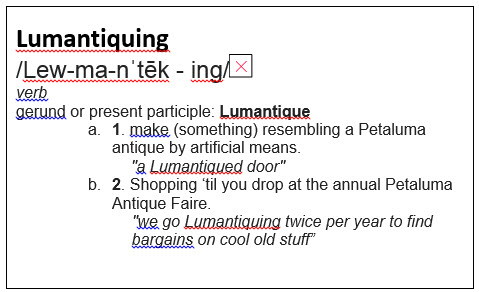 Definition of Lumantiquing 2