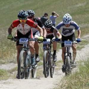 Mountain Bikers In Petaluma Making Their Way Up Hurl Hill