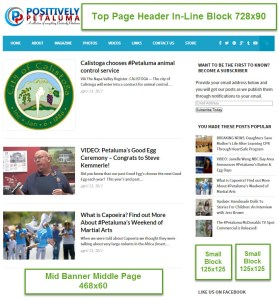 Ad Zones For Positively Petaluma