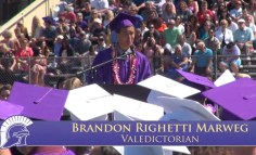 Brandon Marweg Valedictorian 2014 Petaluma High School