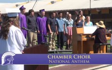 Petaluma High Chamber Choir Singing National Anthem