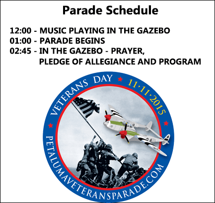 Petaluma Veterans Day Parade Schedule