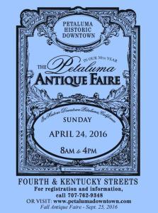 30th Annual Spring Petaluma Antique Faire April 2016