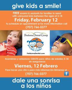 Petaluma Dental Group Giving Kids Smiles 2016