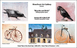 Petaluma Riverfront Gallery Bicycles and Birds