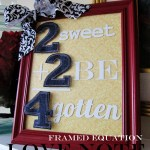 "Quick and Easy Framed Love ""Equation"""