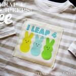I Leap 4 Peeps (Boys' Easter Tee Tutorial)