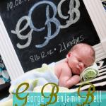 Chalkboard Display Birth Announcement