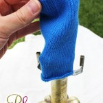 Lamp-Painting Sock Trick