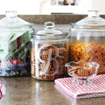 Faux Etched Glass Snack Jars