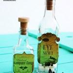 Creepy Halloween Bottle Decor