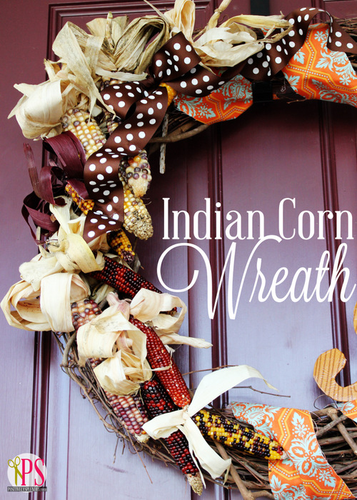 Indian Corn Fall Wreath Tutorial