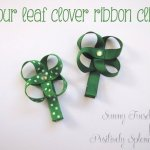 Four-Leaf Clover Ribbon Clips
