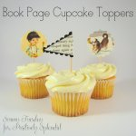 Book Page Cupcake Toppers