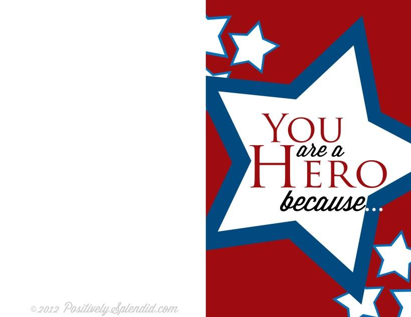 Free Printable Memorial Day Hero Card :: PositivelySplendid.com