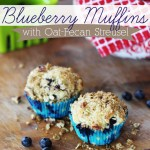 Blueberry Muffins with Oat-Pecan Streusel