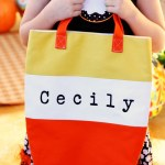 Candy Corn Trick-or-Treat Tote