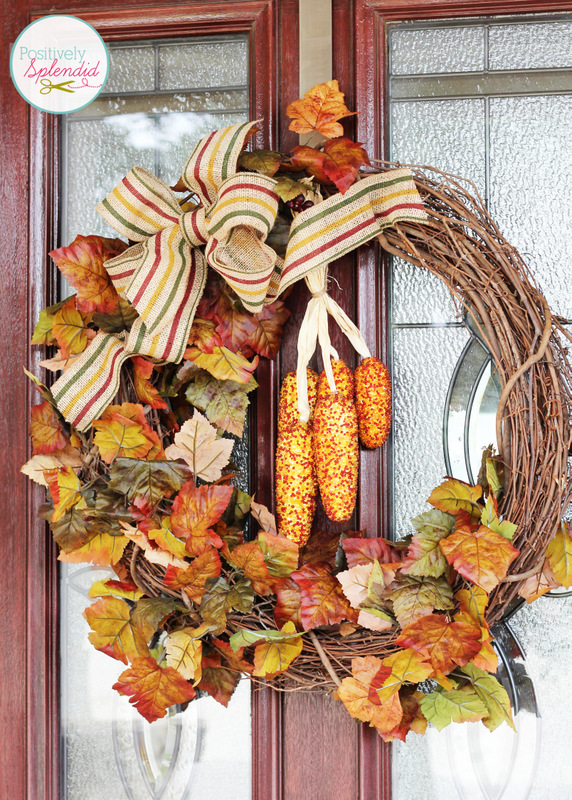 StBright and Beautiful Fall Front Porch Decor at Positively Splendidacked Pumpkin Planter at Positively Splendid - Such a unique idea for fall!