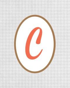 Grey Monogram C