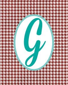 Red Monogram G