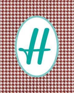 Red Monogram H