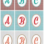Free printable houndstooth monograms in three different color schemes