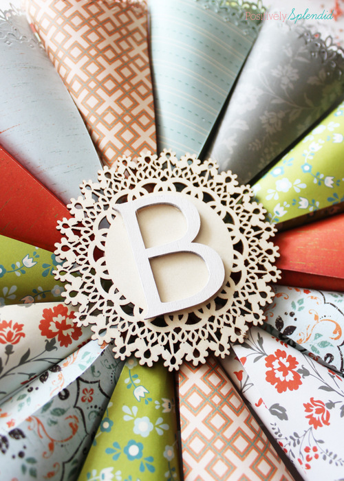 Rolled Paper Wreath Tutorial at Positively Splendid