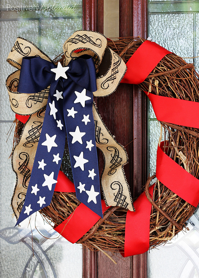 DIY Patriotic Wreath--Perfect for Memorial Day and July 4th!
